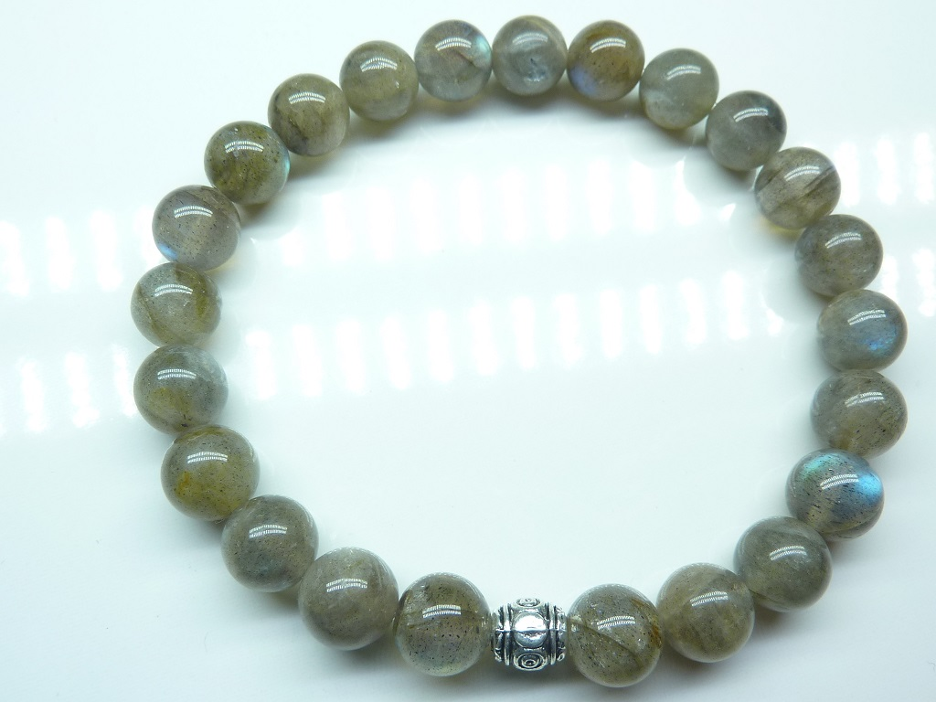 Bracelet Labradorite - Perles rondes 8mm