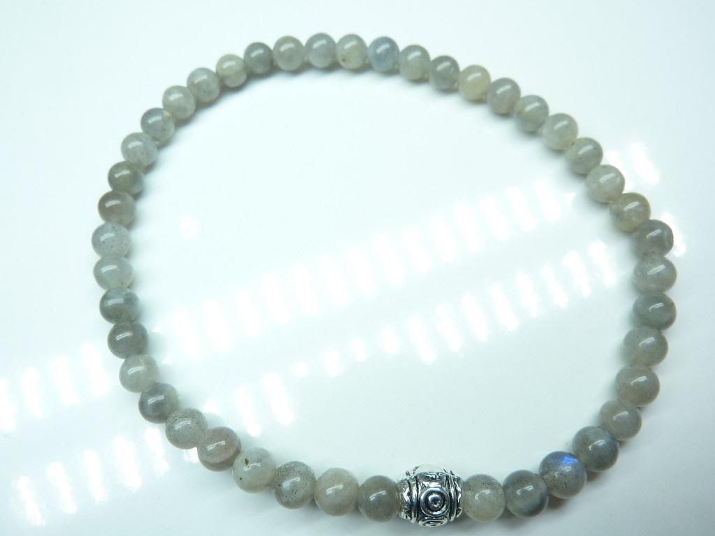 Bracelet Labradorite - Perles rondes 4mm