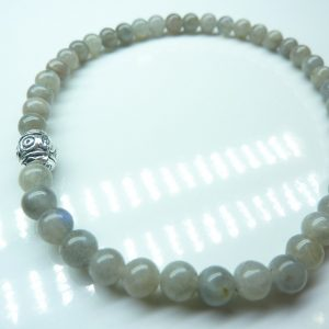 Bracelet Labradorite - Perles rondes 4 mm