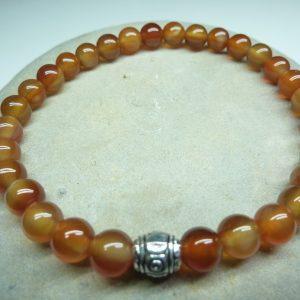 Bracelet Cornaline - Perles rondes 6 mm