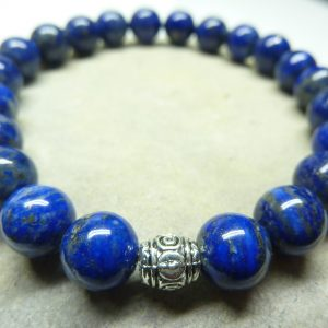 Bracelet Lapis Lazuli - Perles rondes 8 mm