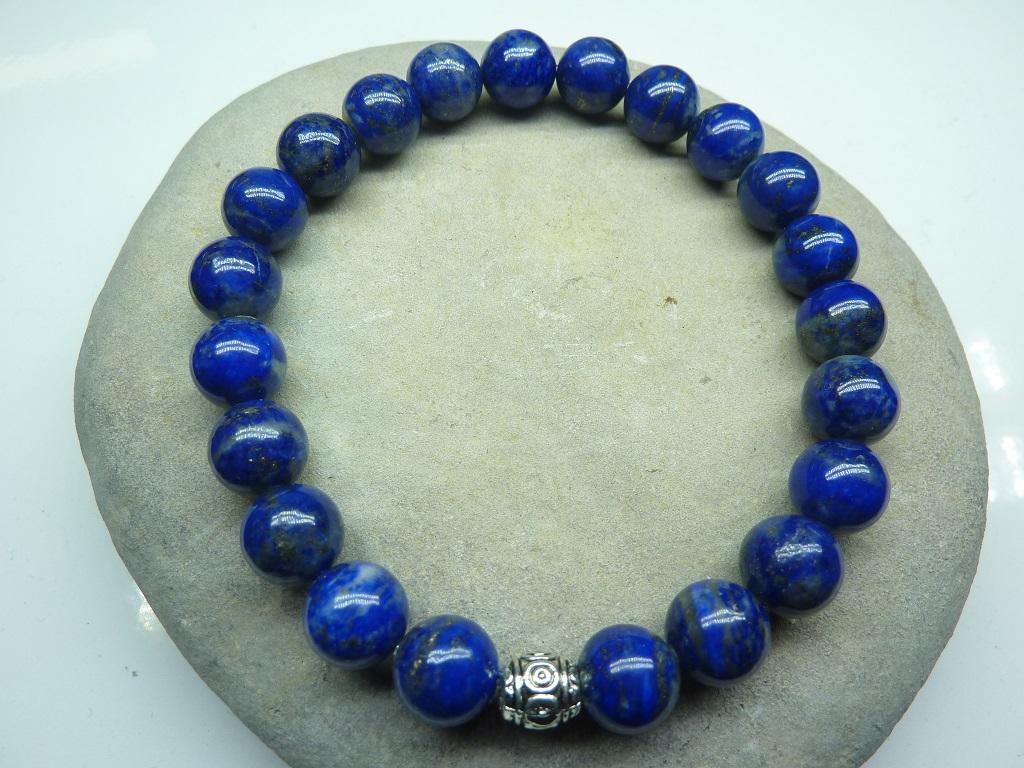 Bracelet Lapis Lazuli en perles rondes 8 mm