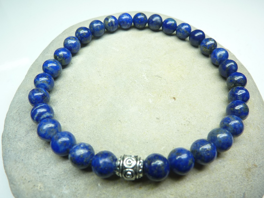Bracelet Lapis Lazuli - Perles rondes 6 mm