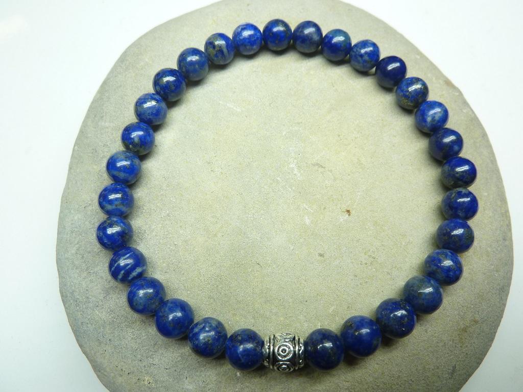 Bracelet Lapis Lazuli en perles rondes 6 mm