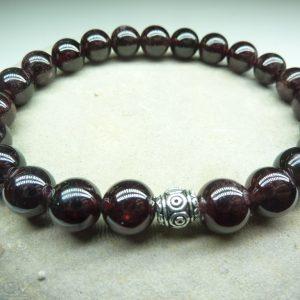 Bracelet Grenat - Perles rondes 8 mm