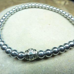 Bracelet Hématite - Perles rondes 4 mm