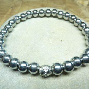 Bracelet Hématite - Perles rondes 6 mm
