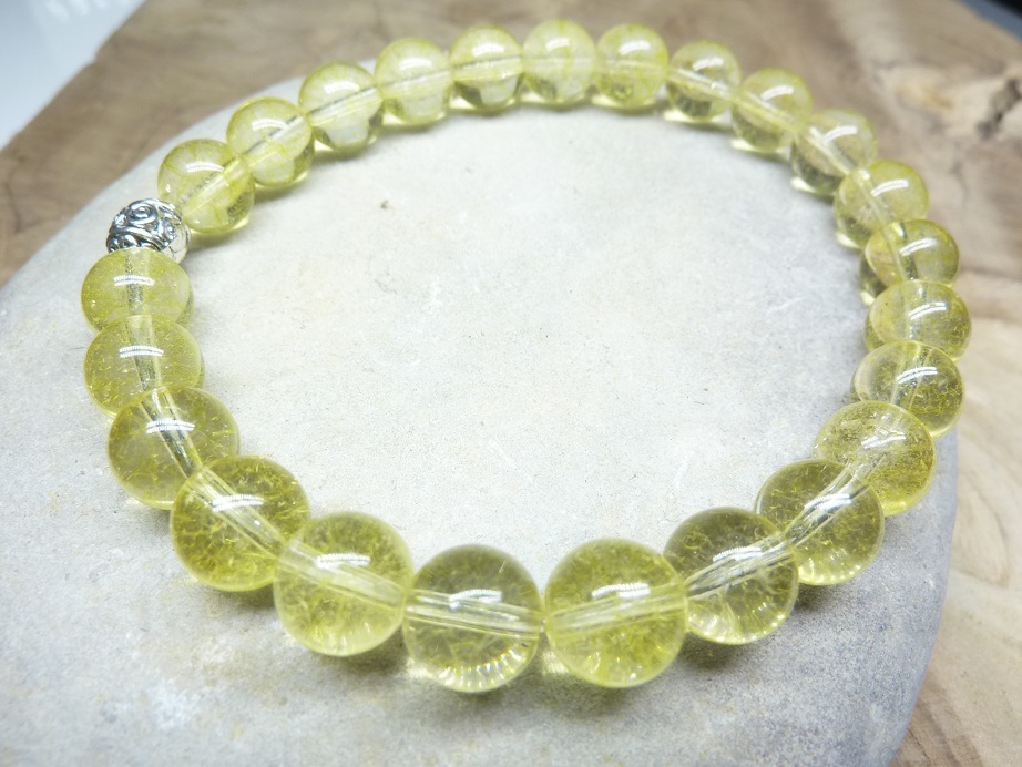 Bracelet Citrine - Perles rondes 8 mm