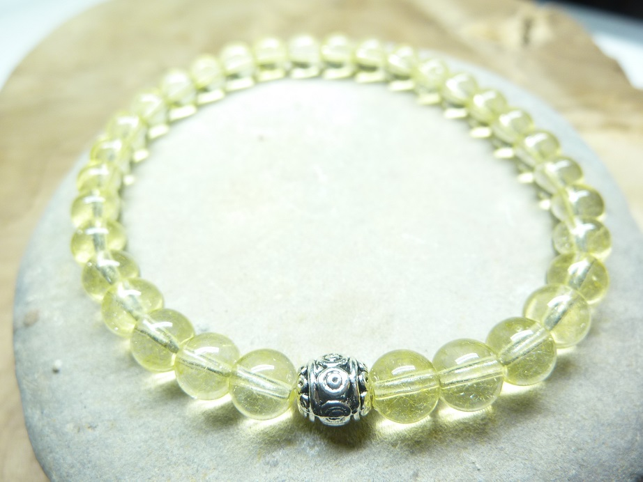 Bracelet Citrine - Perles rondes 6 mm