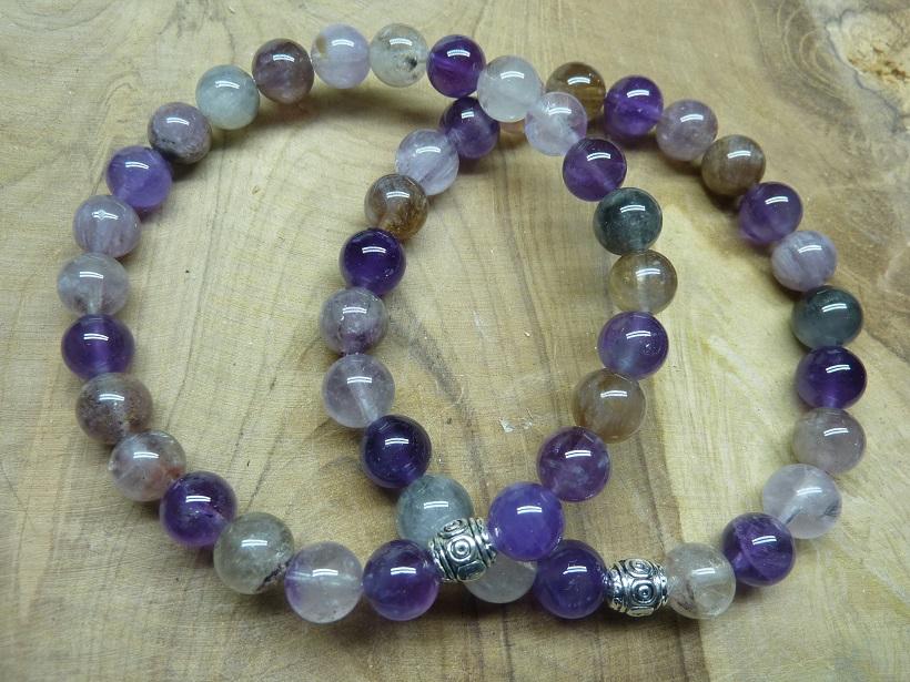 Bracelet Cacoxénite super seven - Perles 8 mm