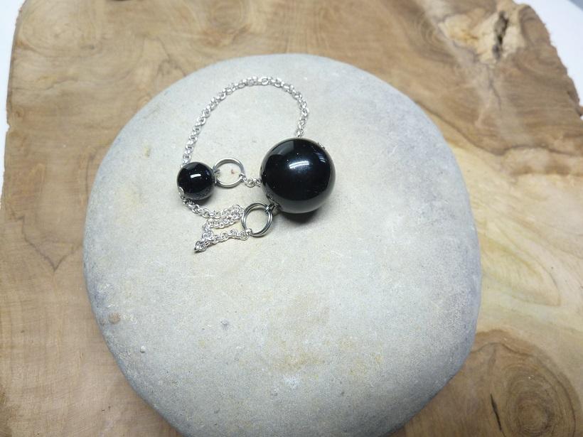 Pendule de radiesthésie Spinelle noir