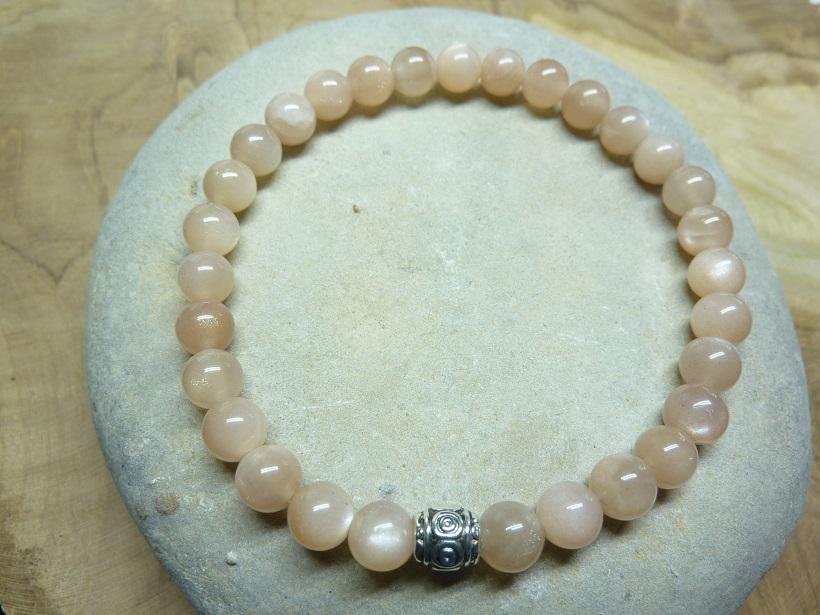 Bracelet Pierre de soleil - Perles rondes 6 mm