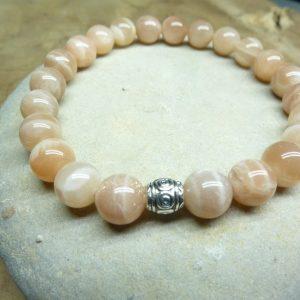 Bracelet Pierre de soleil - Perles rondes 8 mm
