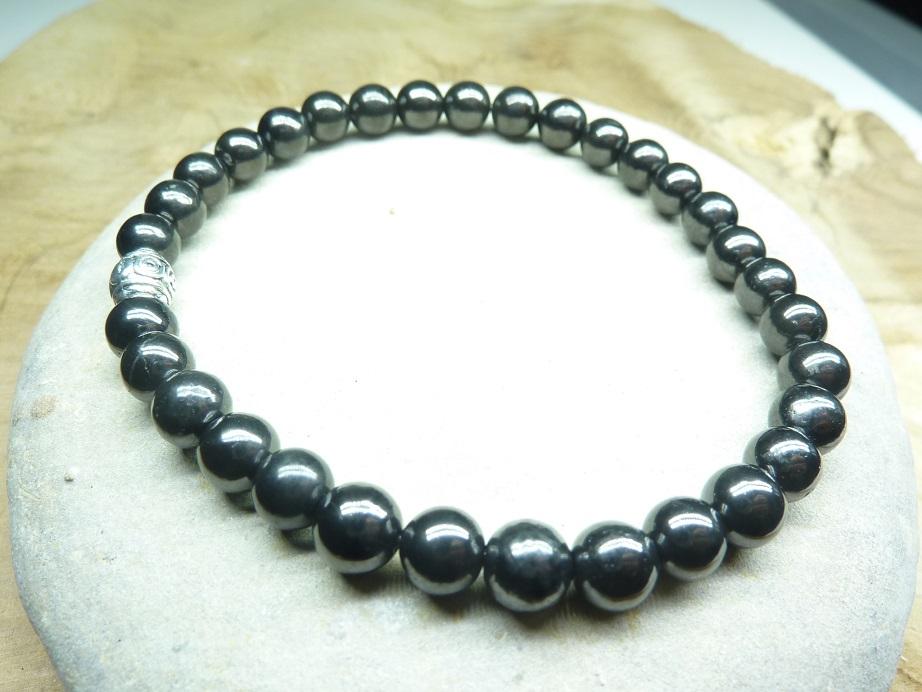 Bracelet Shungite - Perles rondes 6 mm