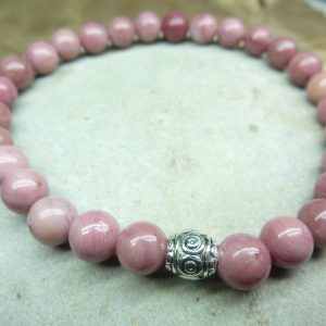 Bracelet Rhodochrosite - Perles rondes 6 mm