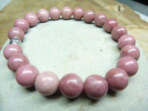 Bracelet Rhodochrosite - Perles rondes 8 mm