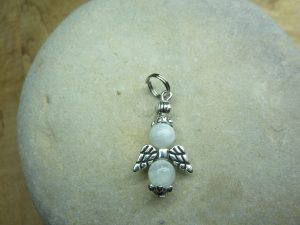Pendentif Pierre de lune - Perles rondes 6 mm