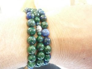 Collier Chrysocolle - Perles rondes 8 mm