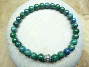 Bracelet Chrysocolle - Perles rondes 6 mm