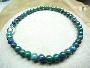 Bracelet Chrysocolle - Perles rondes 4 mm