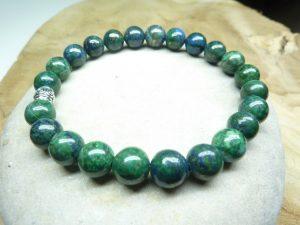 Bracelet Chrysocolle - Perles rondes 8 mm
