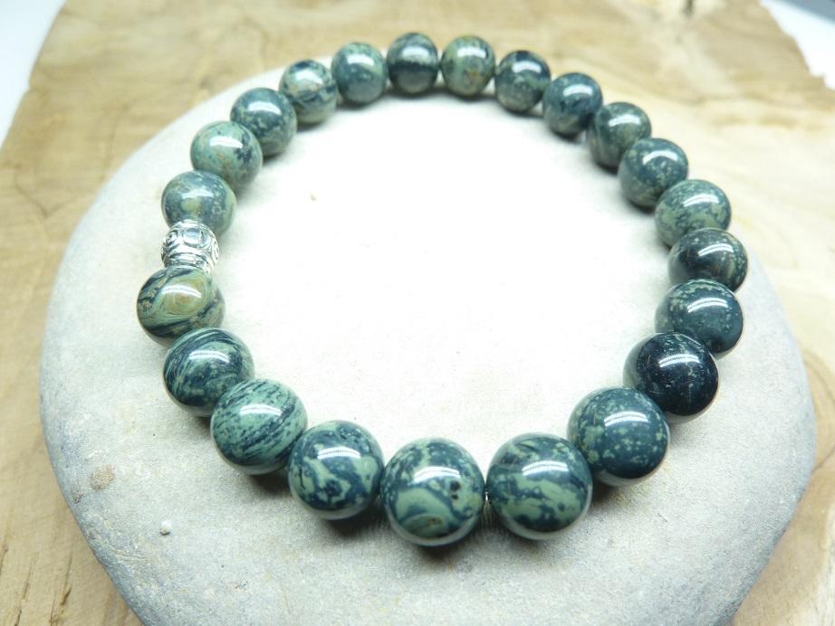 Bracelet Jaspe Kambamba - Perles rondes 8 mm