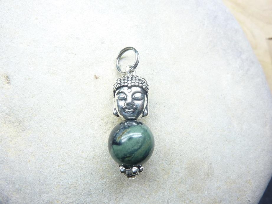 Pendentif Jaspe Kambamba 10 mm - Bouddha