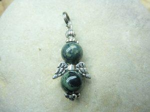 Pendentif Jaspe Kambamba - Perles rondes 8 mm