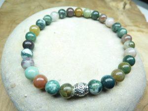 Bracelet Agate Indienne - Perles rondes 6 mm
