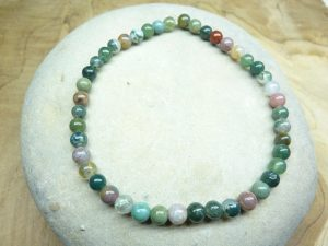 Bracelet Agate Indienne - Perles rondes 4 mm