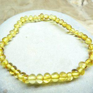 Bracelet Ambre miel véritable Baltique