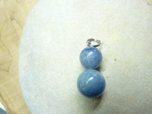 Pendentif Aventurine bleue - Perles rondes 12-10 mm