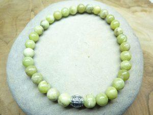 Bracelet péridot - Perles rondes 6 mm