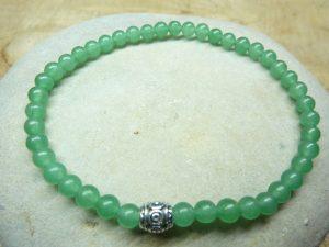 Bracelet Aventurine verte - Perles rondes 4 mm