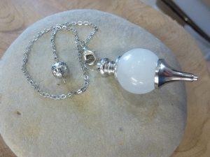Pendule Quartz cristal de roche – Radiesthésie