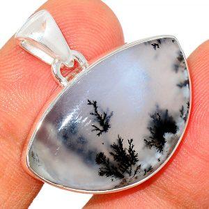 Pendentif Merlinite opale dentritique Monture argent 925 REF 7527