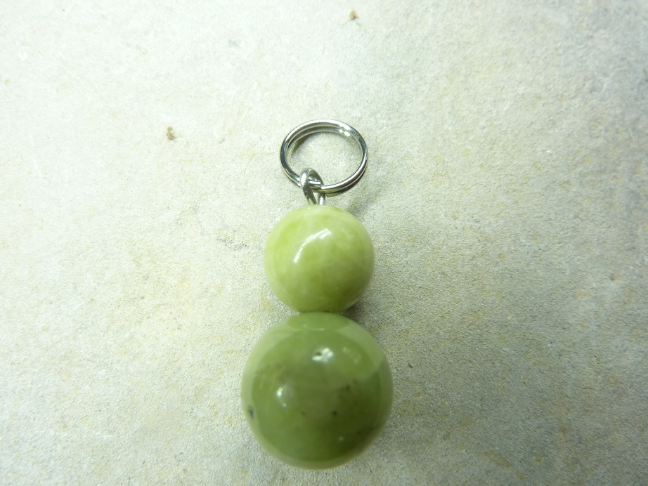 Pendentif Péridot-Perles rondes 10-8 mm