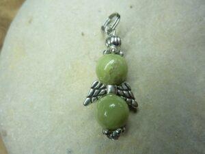 Pendentif Péridot-Ange - Perles rondes 8 mm