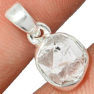 Pendentif Diamant Herkimer Monture argent 925 ref 4023