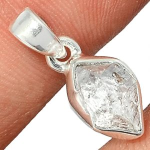 Pendentif Diamant Herkimer Monture argent 925 ref 4024