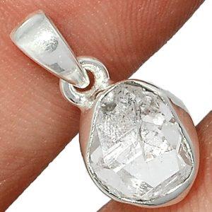 Pendentif Diamant Herkimer Monture argent 925 ref 4025