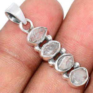 Pendentif Diamant Herkimer Monture argent 925 ref 4755