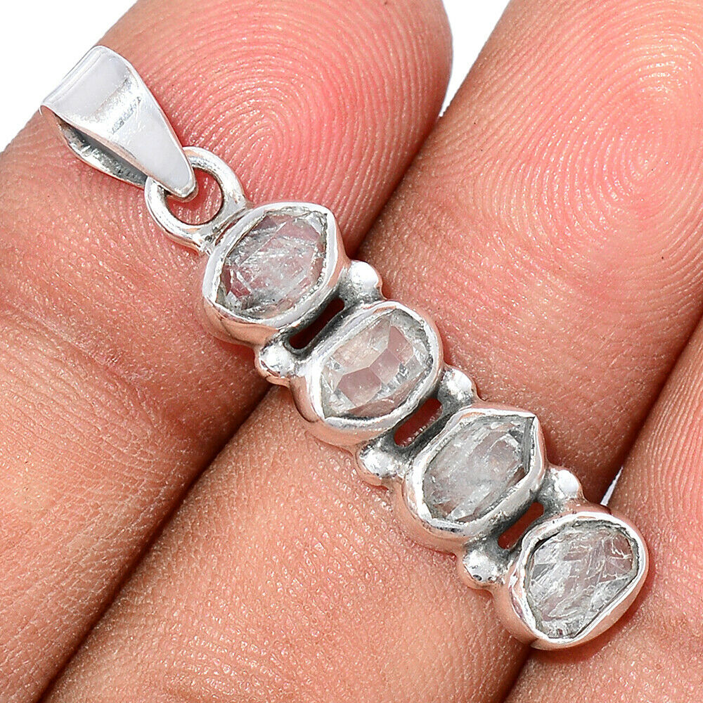 Pendentif Diamant Herkimer Monture argent 925 ref 4757