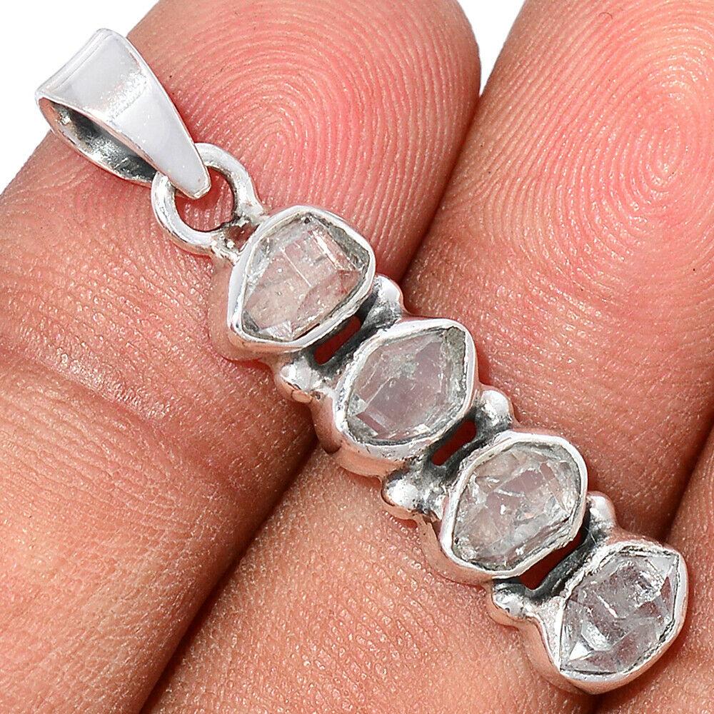 Pendentif Diamant Herkimer Monture argent 925 ref 4760