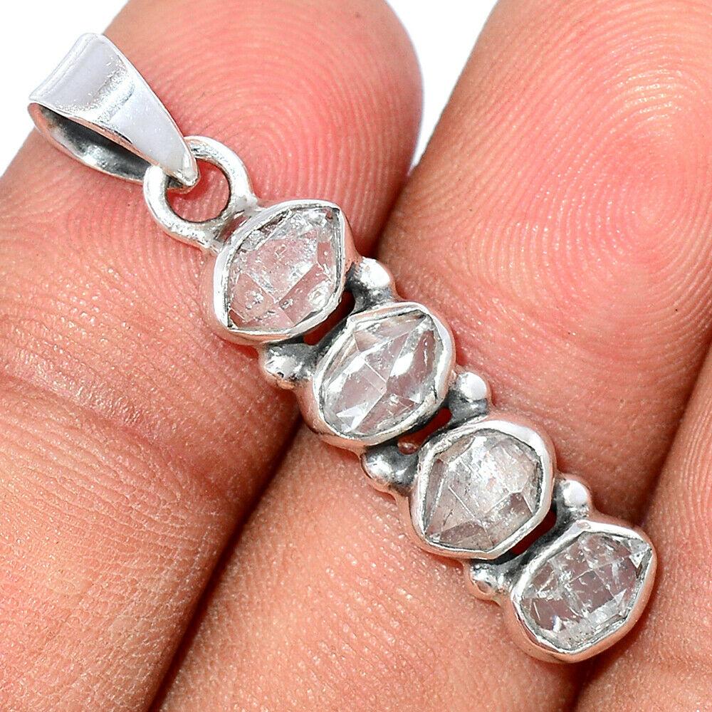 Pendentif Diamant Herkimer Monture argent 925 ref 4764