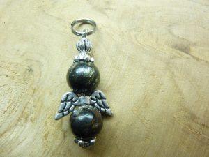 Pendentif Biotite mica - Perles rondes 10 mm