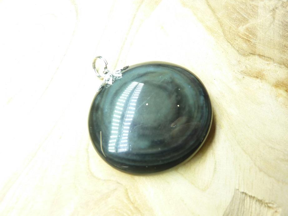 Pendentif Obsidienne mentogochol rare Ref 1212